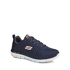 Skechers - Navy 'Flex Advantage 2.0' wide fit trainers