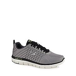 Skechers - Grey 'Flex Advantage' wide fit trainers