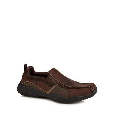 Skechers - Dark brown 'Lanson Berto' trainers