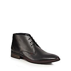 Lotus Since 1759 - Black leather 'Harlington' Chukka boots