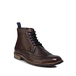Lotus Since 1759 - Brown leather 'Aldridge' brogue boots