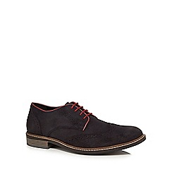 Lotus Since 1759 - Navy suede 'Willington' brogues