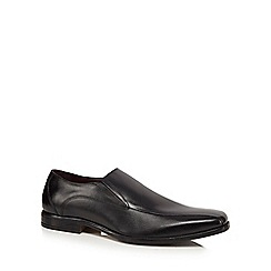 Lotus Since 1759 - Black leather 'Stockton' slip-on shoes