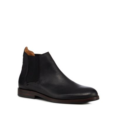 H By Hudson   Black Leather 'tonti' Chelsea Boots by H By Hudson