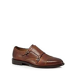 H By Hudson - Tan leather 'Baldwin' monk strap shoes