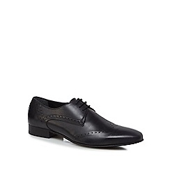 H By Hudson - Black leather 'Erato' brogues