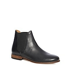 H By Hudson - Black leather 'Abner' Chelsea boots