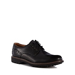Clarks - Black leather 'Montacute Hall' lace-up shoes