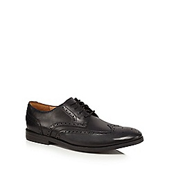 Clarks - Black leather 'Broyd Wing' brogues