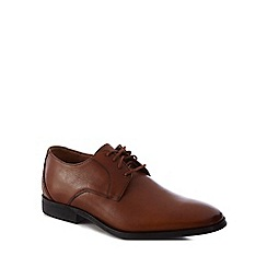 Clarks - Dark tan leather 'Gilman' Derby shoes
