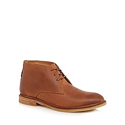 Clarks - Tan leather 'Clarkdale' chukka boots