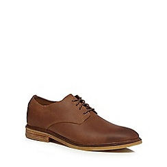 Clarks - Dark tan leather 'Clarkdale Moon' lace up shoes