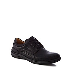 Clarks - Black leather 'Nature Three' lace-up shoes