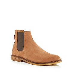 Clarks - Light tan suede 'Clarkdale Gobi' Chelsea boots