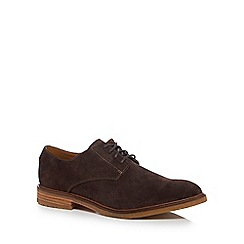 Clarks - Dark brown suede 'Clarkdale' Derby shoes