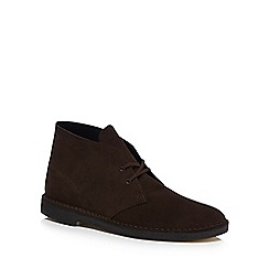 Clarks - Brown suede desert boots