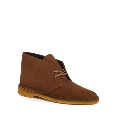 Clarks - Tan suede desert boots