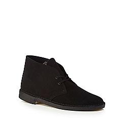 Clarks - Black suede desert boots