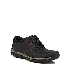 Clarks - Black 'Walbeck Edge' lace up trainers