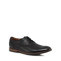 Clarks - Black leather 'Broyd Walk' Derby shoes
