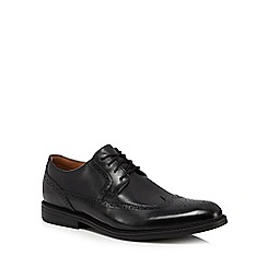 Clarks - Black leather 'Beckfield' brogues