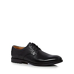 Clarks - Black leather 'Corkfield' Derby shoes
