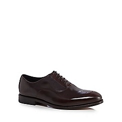 Clarks - Dark brown leather 'Ellis Vincent' Oxford shoes