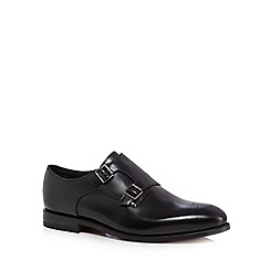 Clarks - Black leather 'Ellis Gilbert' double monk strap shoes
