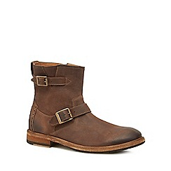 Clarks - Brown leather 'Clarkdale Cash' boots