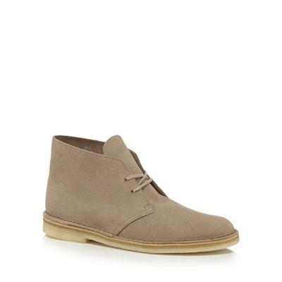 Online ExclusiveClarks - Natural suede desert boots