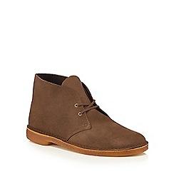 Clarks - Khaki brown suede desert boots