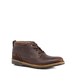 Clarks - Brown leather 'Edgewick' chukka boots