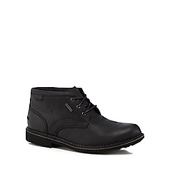 Clarks - Black leather 'Lawes' chukka boots