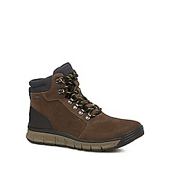 Clarks - Brown leather 'Edlund Lo' walking boots