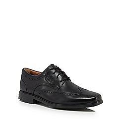 Clarks - Black leather 'Un Brylan' Derby shoes