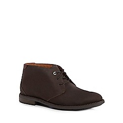 Clarks - Dark brown leather 'Elott' chukka boots