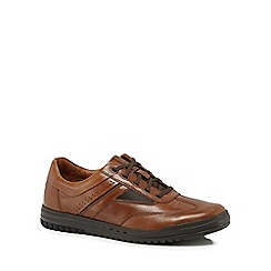 Clarks - Tan leather 'Rhombus' trainers