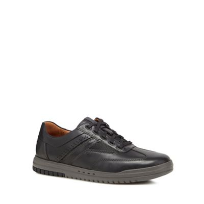 Online ExclusiveClarks - Black leather 'Unrhombus Fly' trainers
