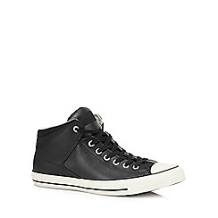 Converse - Black leather 'Chuck Taylor All Star' high top trainers