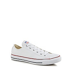 Converse - White leather canvas 'Chuck Taylor' trainers