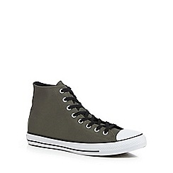 Converse - Khaki 'Chuck Taylor All Star' hi-top trainers