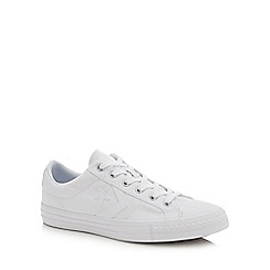 Converse - White leather 'Star Player' trainers