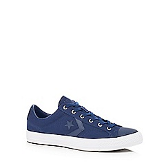 Converse - Navy canvas 'Star Player' trainers