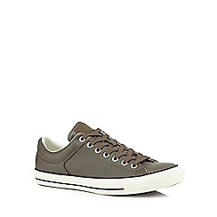 Converse - Grey leather 'Chuck Taylor' trainers