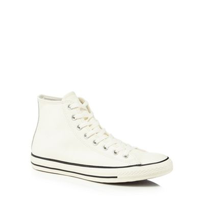 Converse - White leather 'Chuck Taylor All Star' hi-top trainers