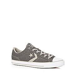 Converse - Dark grey 'Star Player' lace up trainers
