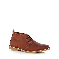 Jack & Jones - Tan leather 'Gobi' chukka boots