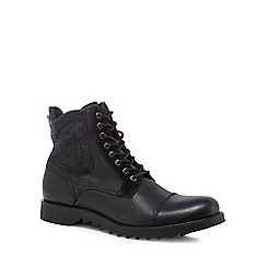 Jack & Jones - Black 'Dean' lace up boots