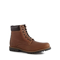 Chatham Marine - Tan leather 'Maguire 2' lace-up boots