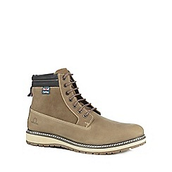 Chatham Marine - Taupe leather 'Clark' lace-up boots